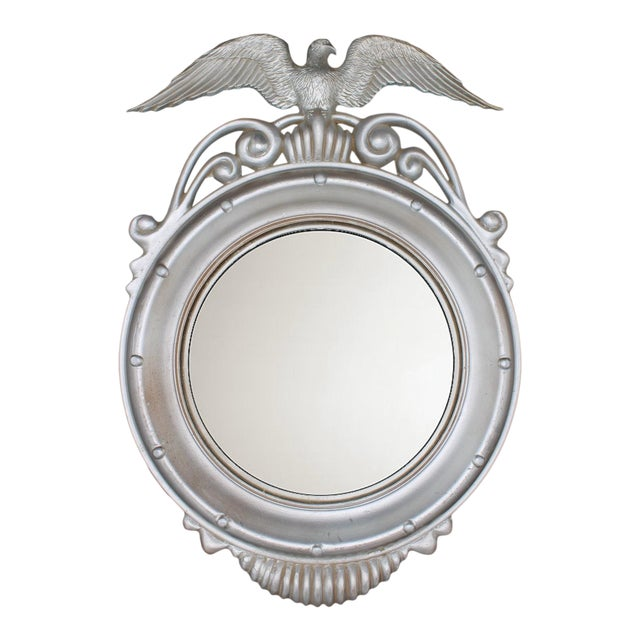 Mid-20th Century Vintage Federal Eagle Convex Wall Mirror For Sale