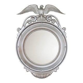 Mid-Century Vintage Federal Eagle Convex Wall Mirror For Sale