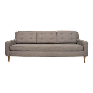 Mid-Century Button Tufted Sofa For Sale
