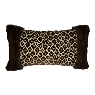 Contemporary Mink and Animal Print Velvet Pillows For Sale