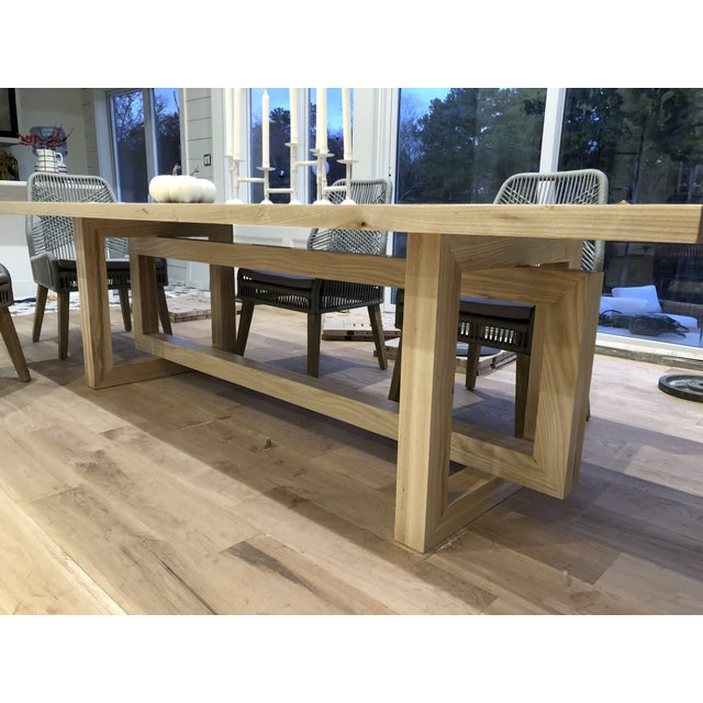 2010s Country Custom Built Dining Room Table For Sale - Image 5 of 5