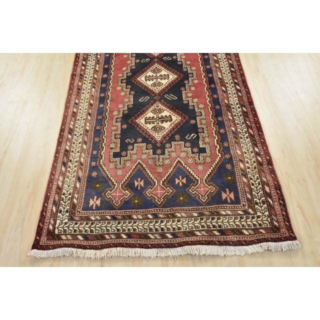 Persian Afshar Runner - 3'5'' X 9'3'' For Sale - Image 10 of 13