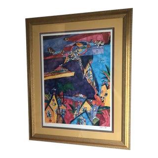 Modern Original Miles Blatt Signed Print, Living Along the Cooper For Sale