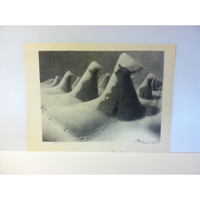 "1930s 1939 Simon & Schuster Famous American Print ,""January"" by Grant Wood For Sale - Image 5 of 5"