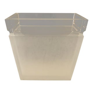 Clear & Frosted Lucite Paper Basket