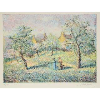 Original Pissarro Impressionist Print For Sale