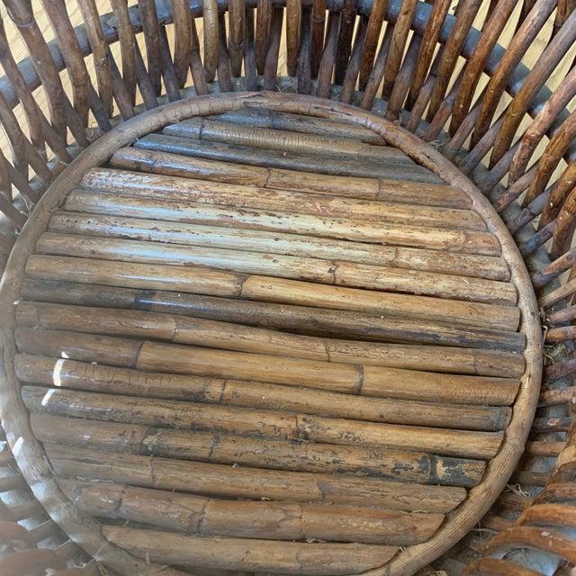 Vintage Primitive Handmade Wooden Basket For Sale - Image 4 of 9