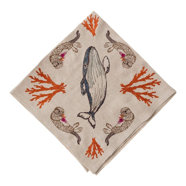 Coral Forest Dinner Napkin - Image 1 of 7
