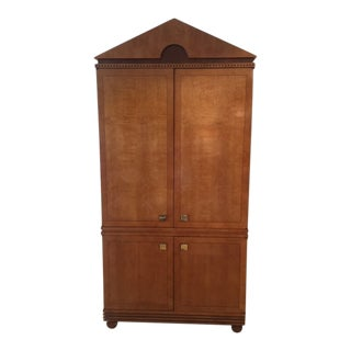 1990s Biedermeier Hickory White Co. Satinwood Armoire For Sale
