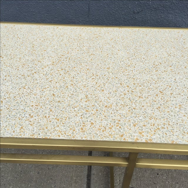Paul Laszlo Custom Brass and Terrazzo Table For Sale In New York - Image 6 of 8