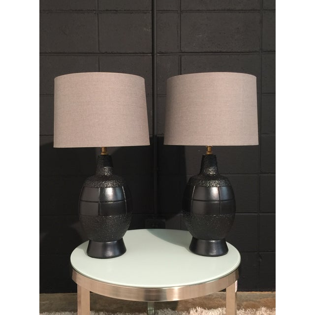 Mid-Century Modern Mid-Century Modern Lacquered Table Lamps- A Pair For Sale - Image 3 of 10