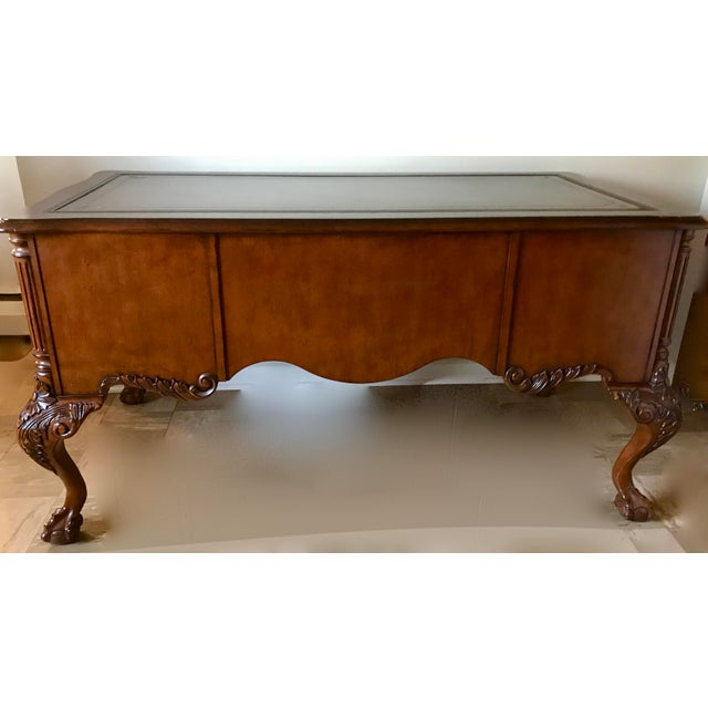 Hekman Furniture Hekman Leather Top Writing Desk For Sale - Image 4 of 13
