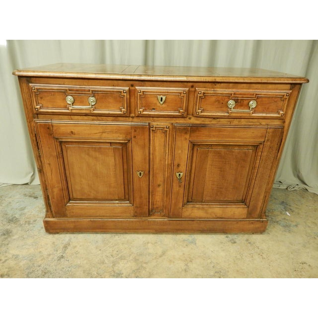 French Early French Walnut 19th Century Directoire' Buffet For Sale - Image 3 of 11