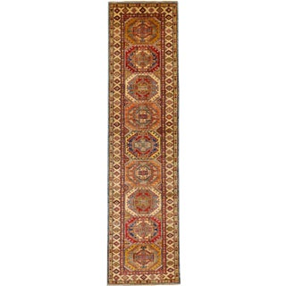 "Kazak Orange Style Runner Rug-2'6"" X 9'9"" For Sale"