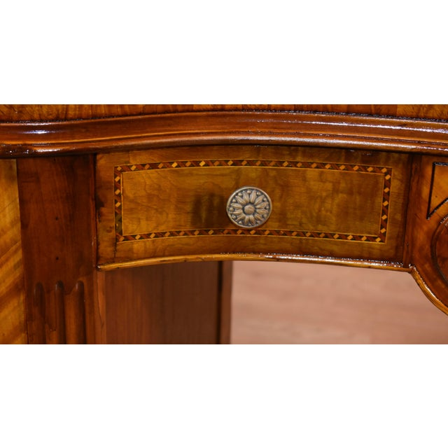 Wood 1900s Antique French Louis XVI Satinwood & Walnut Inlay Vanity For Sale - Image 7 of 13