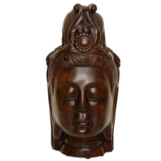 Art Deco Resin Buddha Head For Sale