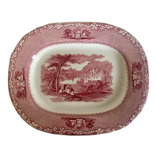 1834 Jenny Lind 1795 Pattern Staffordshire Tray For Sale
