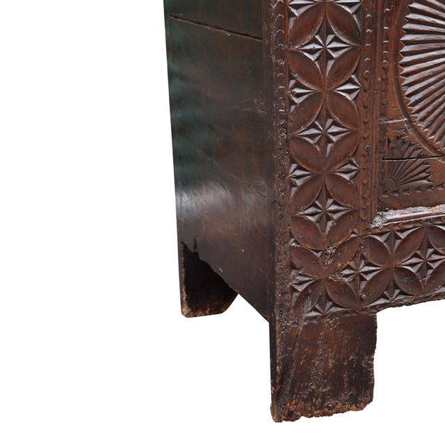 Early 18th Century 18th Century Carved Spanish Chest For Sale - Image 5 of 10