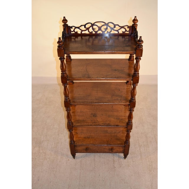19th Century 19th C English Mahogany Etagere For Sale - Image 5 of 8