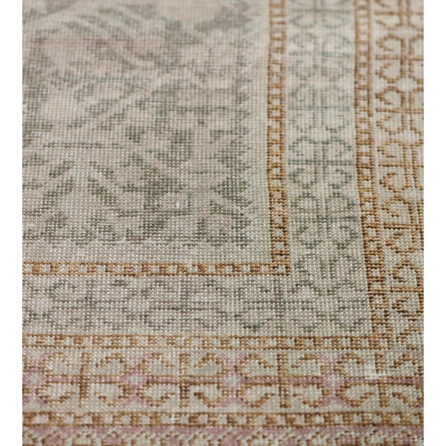 Mid-19th Century Handwoven Wool Khotan Rug For Sale - Image 4 of 7