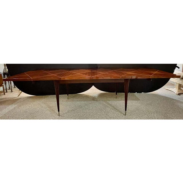 A Tommi Parzinger Originals Dining Table Fully Refinished With Two Leaves For Sale In New York - Image 6 of 13