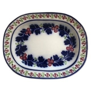 Very Large 19th Century Ironstone Ceramic Platter For Sale