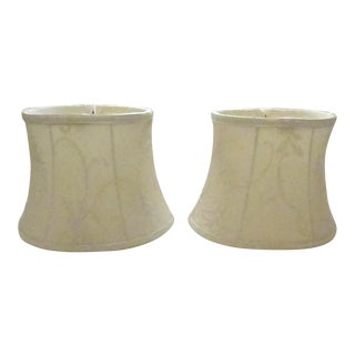 Antique Lace Lamp Shades - A Pair For Sale