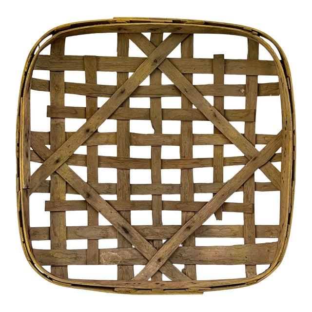 Large Authentic Antique Tobacco Basket For Sale