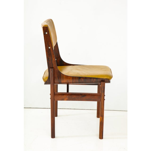 Jacaranda and Leather Dining Chairs From Brazil - Set of 4 For Sale - Image 9 of 13