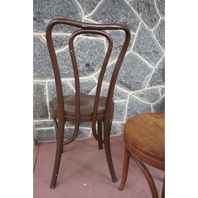 1940s Antique Thonet Model 18 Cafe Chairs - Set of 4 For Sale In Washington DC - Image 6 of 13