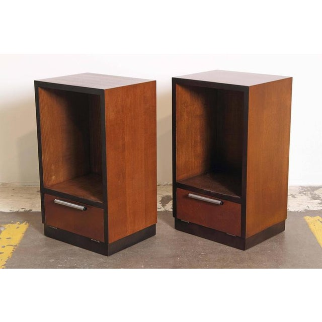 Art Deco Pair of 1933 Gilbert Rohde Herman Miller Art Deco World's Fair Nightstands Matched For Sale - Image 3 of 11