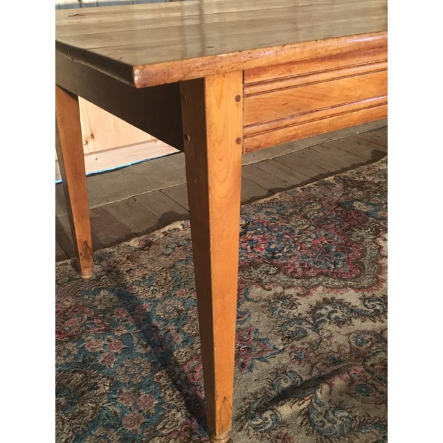 Antique Pine Farm Table For Sale - Image 9 of 10