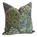 Tapestry Pillow Cover in Green & Blue: 16x16