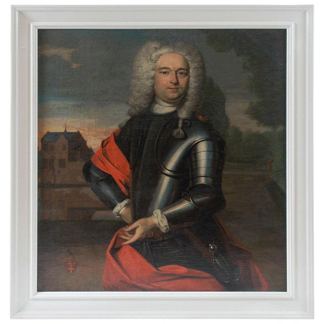 Portrait Painting of a Nobleman, the Netherlands, Circa 1760 For Sale