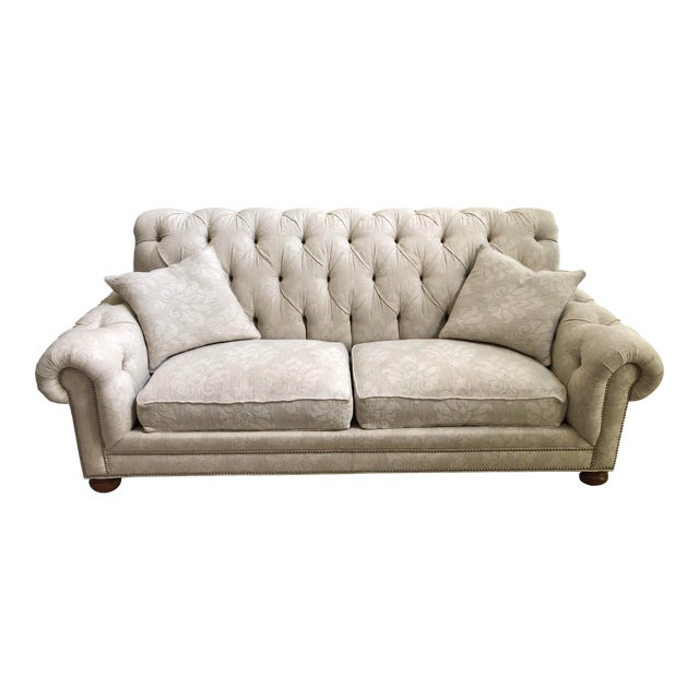 Hand-Tailored Ethan Allen Custom Made Chadwick Sofa For Sale
