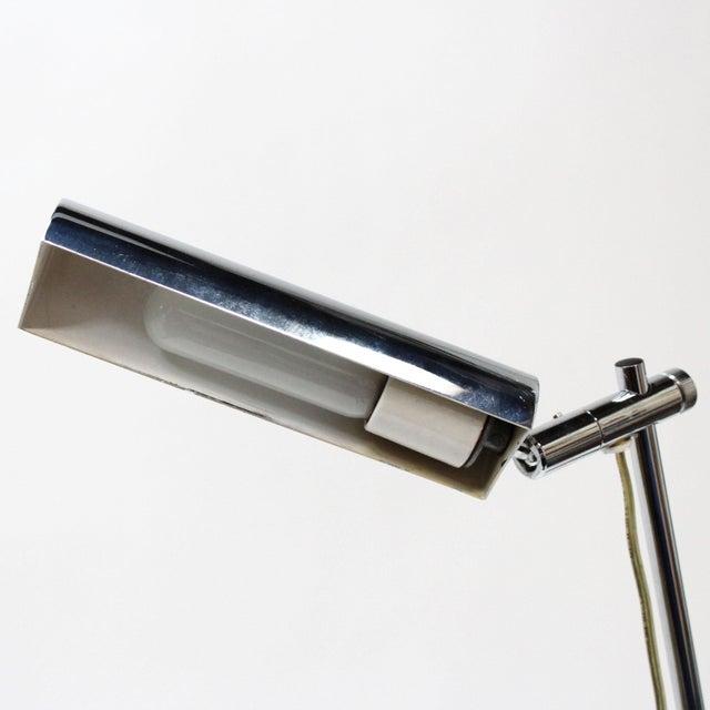 Koch & Lowy Mid-Century Modern Chrome Floor Lamp - Image 4 of 6