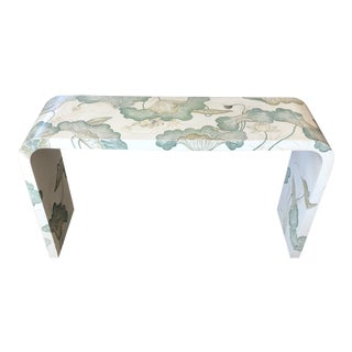 1960s Vintage Jean Michel Frank Style Hand Painted Waterfall Table For Sale