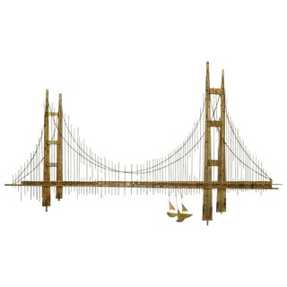 "Curtis Jere Golden Gate ""Bridge"" Sculpture For Sale"
