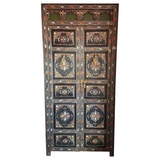 Moroccan Safi Black Wooden Door For Sale