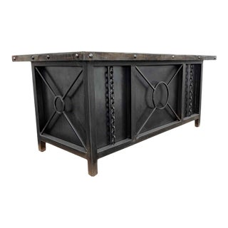 Industrial Executive Desk by Invictus Steelworks For Sale