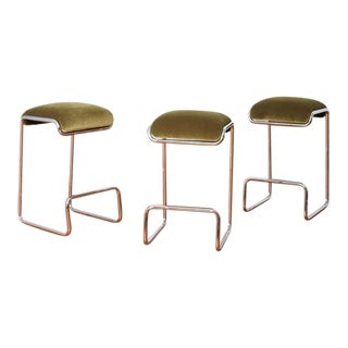 Vintage Chrome Bar Stools For Sale