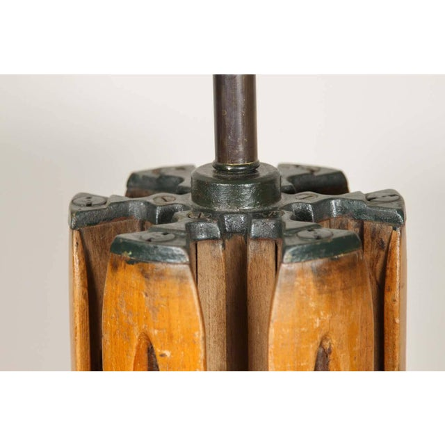 Shuttle Barrel Table Lamp For Sale - Image 4 of 6