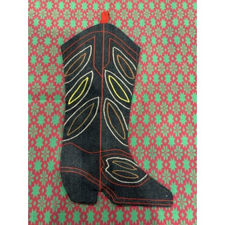 Handmade Cowboy Boot Christmas Stocking Preview