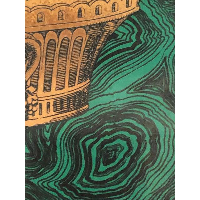 Vintage Fornasetti Italian Framed Malachite Tiles - Set of 4 For Sale - Image 9 of 13