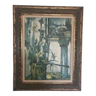 """""""Nature Morte Sur Tower Bridge"""" Oil Painting by Regis Bouvier De Cachard For Sale"""