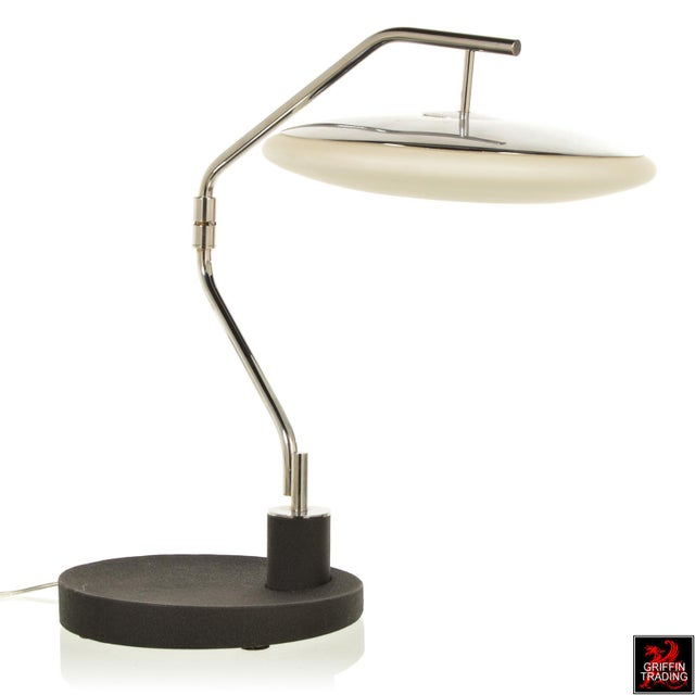 1970s Chrome Italian Desk Lamp with Swing Arm For Sale - Image 5 of 11