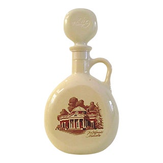 Mid-Century Thomas Jefferson Monticello Decanter For Sale