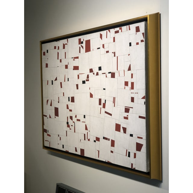 Contemporary Collage on Canvas by Cecil Touchon For Sale In West Palm - Image 6 of 11