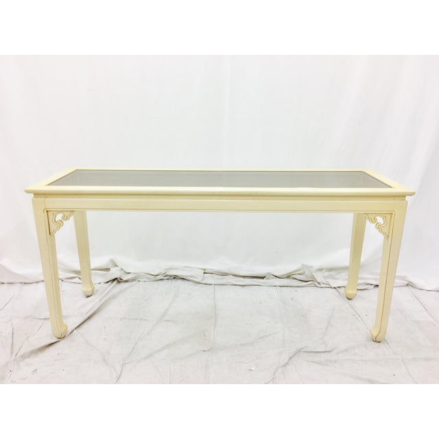 Japanese Style Console Table ~ Vintage mid century modern asian style console table