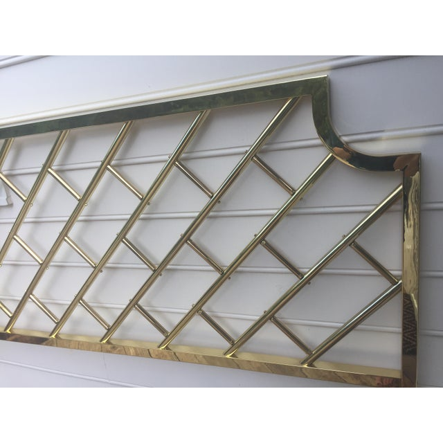 Chippendale Style Brass King Headboard For Sale In Charlotte - Image 6 of 9